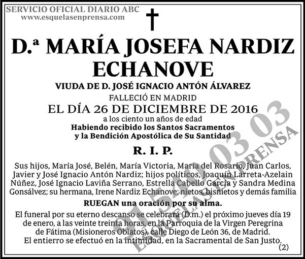 María Josefa Nardiz Echanove